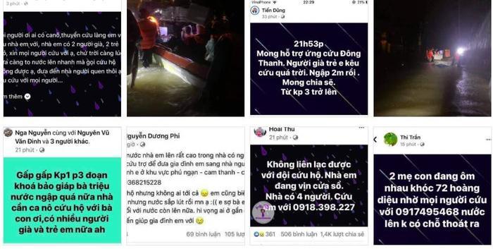 Dân Quảng Trị lên mạng cầu cứu khẩn thiết trong đêm: Trẻ em phải ngủ trên thân chuối, nổi lên theo dòng nước lũ Ảnh 3