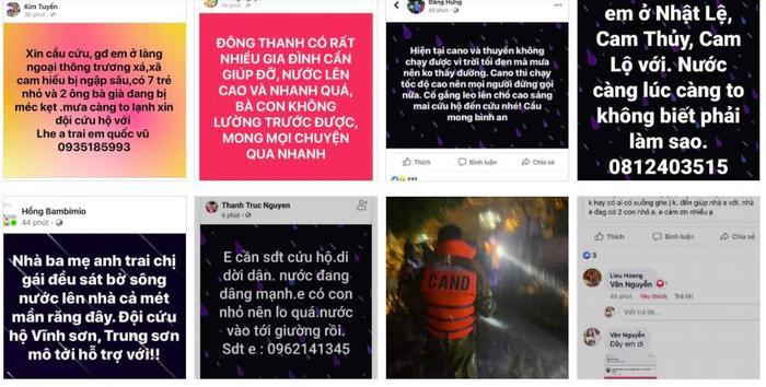 Dân Quảng Trị lên mạng cầu cứu khẩn thiết trong đêm: Trẻ em phải ngủ trên thân chuối, nổi lên theo dòng nước lũ Ảnh 4