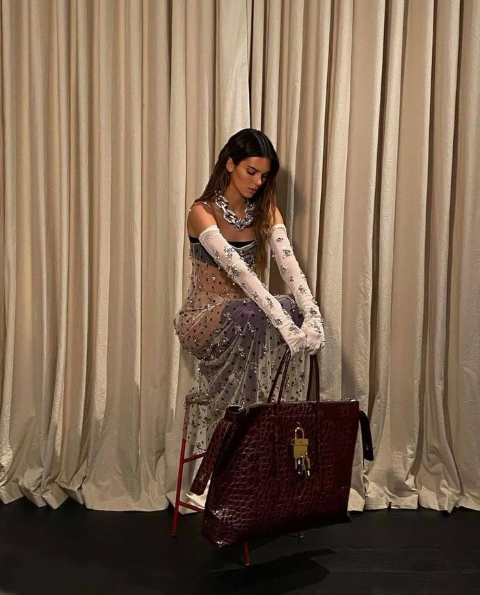 Chị em Kardashian diện đồ hiệu, cô chị lộ nội y - người em như quấn rèm Ảnh 4