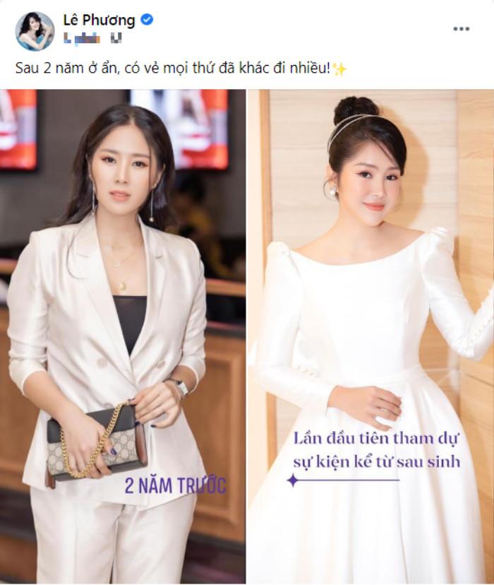 Lần đầu dự sự kiện sau 2 năm 'ở ẩn' sinh con, Lê Phương đăng ảnh so sánh bản thân khiến ai cũng phải kinh ngạc Ảnh 2