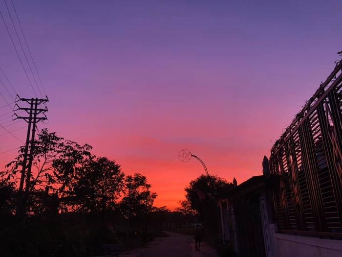 Bầu trời hoàng hôn ở Hà Tĩnh.