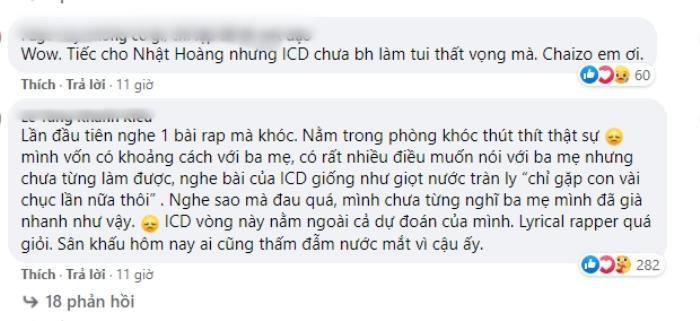 King Of Rap tập 12: Dân mạng thán phục ICD, đến đàn ông cũng phải khóc vì lyric nói lên nỗi lòng của người bố Ảnh 11