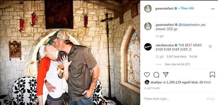 Gwen Stefani chính thức nhận lời cầu hôn từ Blake Shelton sau 5 năm bên nhau Ảnh 1