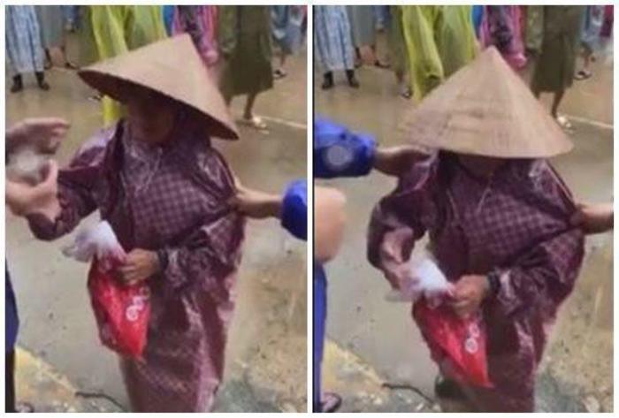 Thủy Tiên - Công Vinh 'ghi bàn thắng' đẹp, giúp bà cụ bị kéo mạnh tay trong lúc nhận cứu trợ Ảnh 2