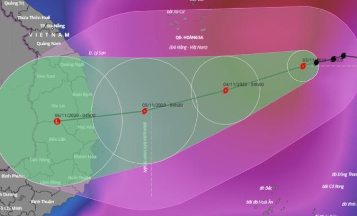 Bão số 10 hướng vào Quảng Ngãi – Khánh Hòa, Biển Đông có thể đón bão số 11 Ảnh 1