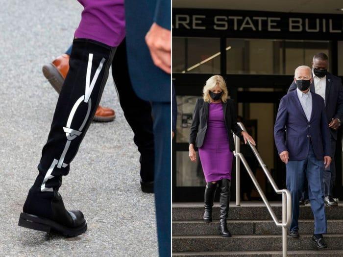 Chồng đắc cử tổng thống, váy bà Jill Biden mặc lập tức sold out Ảnh 4