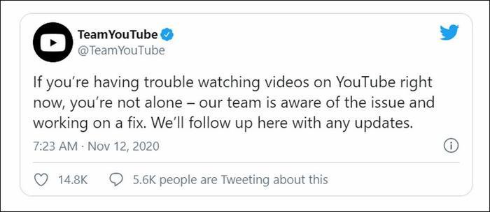 YouTube sập trên toàn cầu, không thể xem video: Google chính thức lên tiếng Ảnh 4