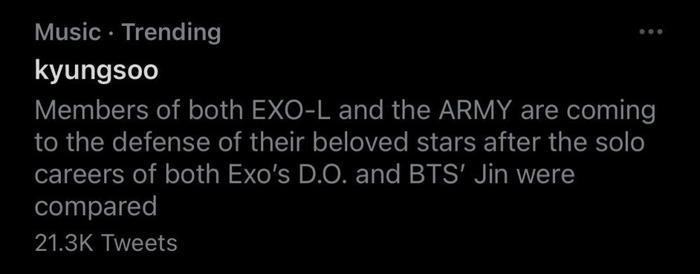 Fan 2 nhà EXO và BTS gây chiến: D.O. hay Jin giỏi hơn? Ảnh 9