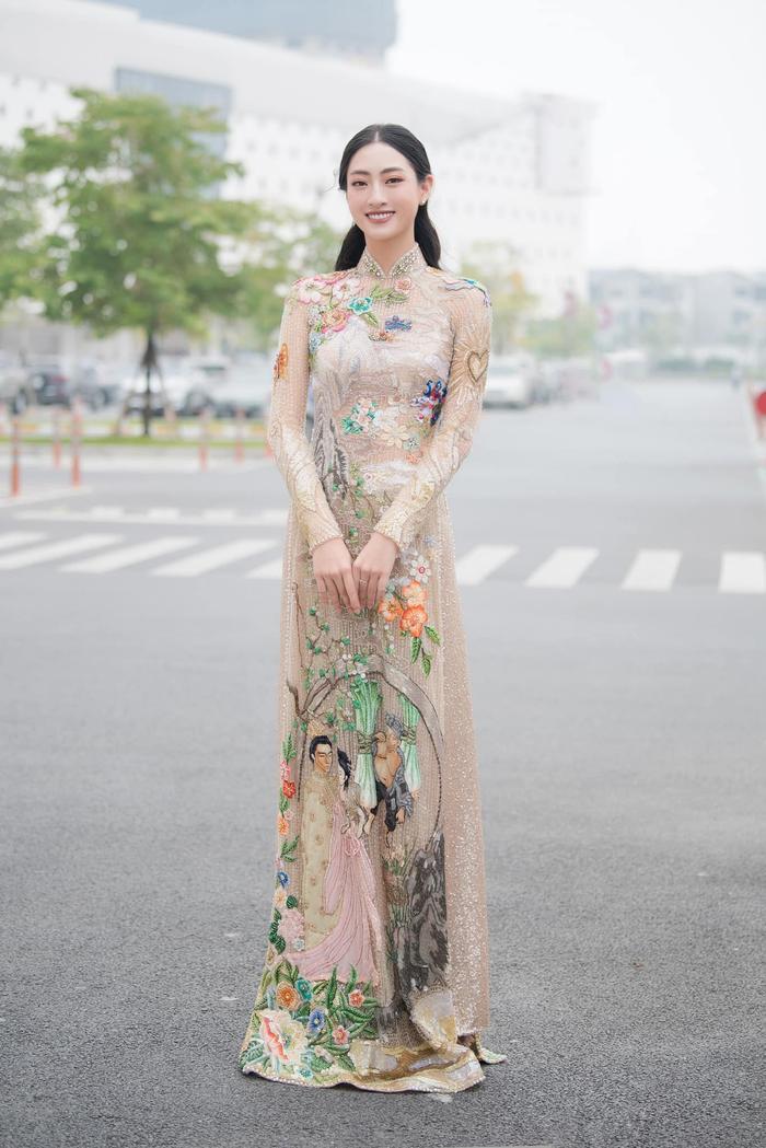 Lương thùy Linh, Tiểu Vy, H'Hen Niê cùng mặc áo dài cổ tích, fan ngây ngất vì ai cũng đẹp như thơ Ảnh 4