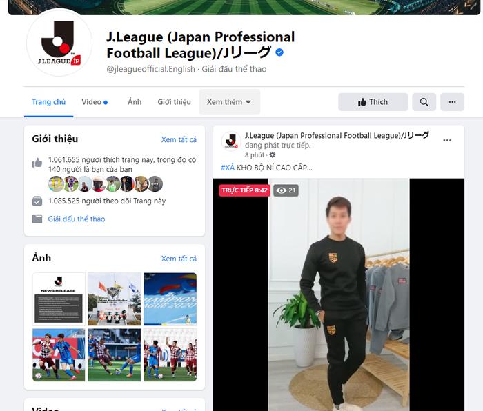 Fanpage giải bóng đá Nhật Bản bị hack để livestream video bán hàng của người Việt Ảnh 5