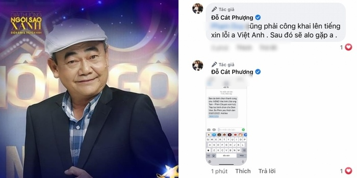Khép lại ồn ào, Cát Phượng ủng hộ NSND Việt Anh tranh giải thưởng 'Ngôi Sao Xanh' Ảnh 3