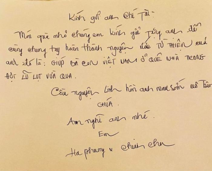 Em gái tỷ phú của Cẩm Ly viếng tặng 50 ngàn đô la cho đám tang cố NS Chí Tài Ảnh 6