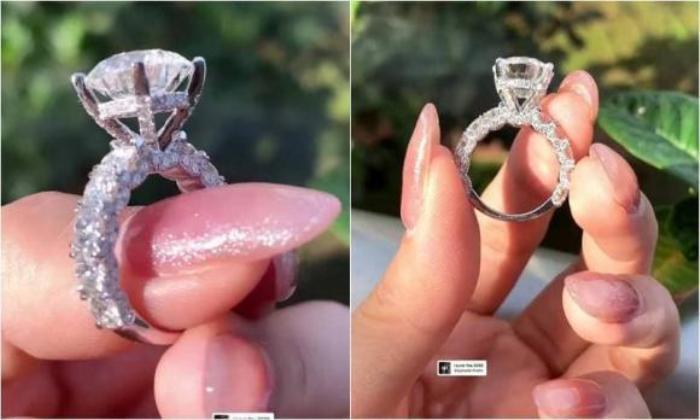 Ngọc Trinh khoe nhẫn kim cương khổng lồ được người yêu tặng, fan mới sáng đã ăn bánh gato Ảnh 3