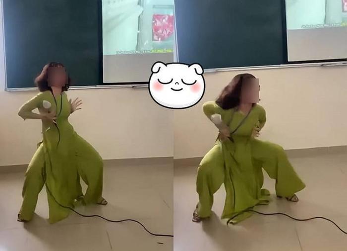 Cô giáo vô tư nhảy vũ điệu gợi cảm trước sự chứng kiến của nhiều sinh viên gây tranh cãi dữ dội Ảnh 1