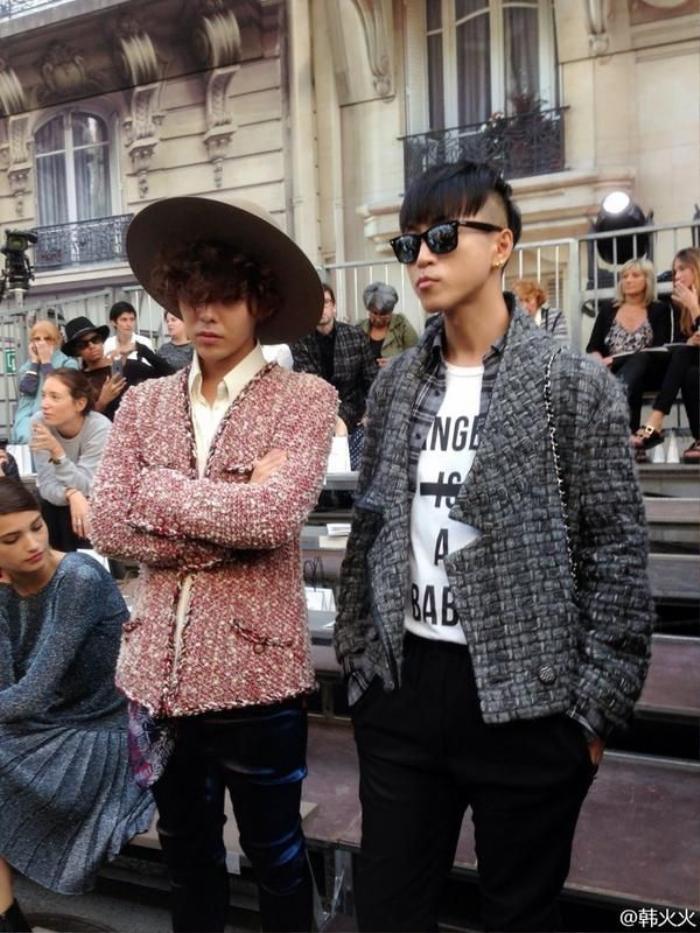 Vương Nhất Bác 'học lỏm' G-Dragon lên đồ với áo khoác vải tweed điểm xuyến cài khuy sành điệu Ảnh 2