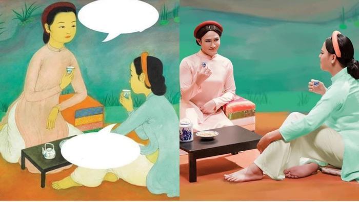Tái xuất hình ảnh 'chị em cà khịa', Huỳnh Lập - Lê Nhân chưng diện sương sương ăn dài từ Noel tới Tết Ảnh 1