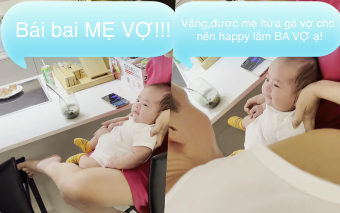Cưng xỉu biểu cảm của quý tử nhà Dương Khắc Linh khi được 'mẹ vợ' Hà Hồ hứa mai mối con gái Ảnh 6