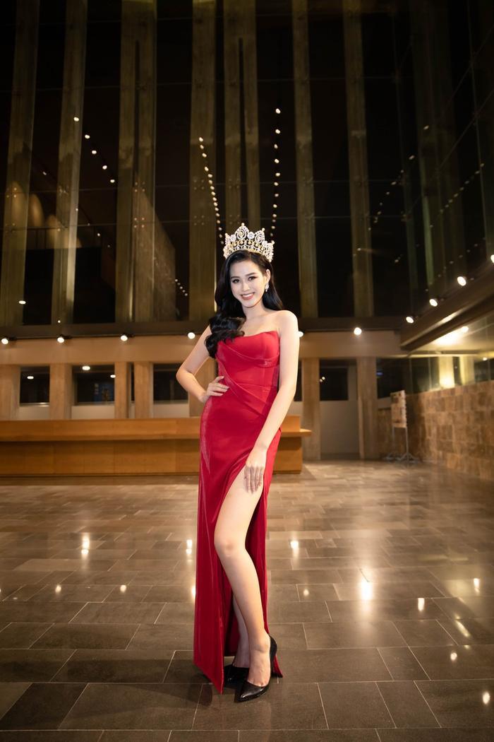 Ngọc Trinh, Đỗ Thị Hà chưng diện váy đỏ cắt xẻ khoe hình thể dự tiệc cuối năm Ảnh 9