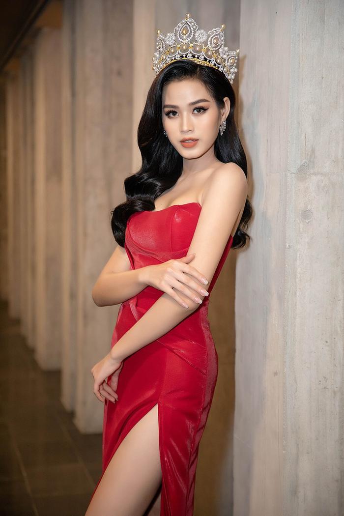 Ngọc Trinh, Đỗ Thị Hà chưng diện váy đỏ cắt xẻ khoe hình thể dự tiệc cuối năm Ảnh 7