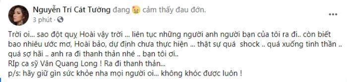 Tuấn Hưng, Lâm Khánh Chi bàng hoàng tiễn Vân Quang Long, Cát Tường nức nở: 'Sao đột quỵ hoài vậy' Ảnh 6
