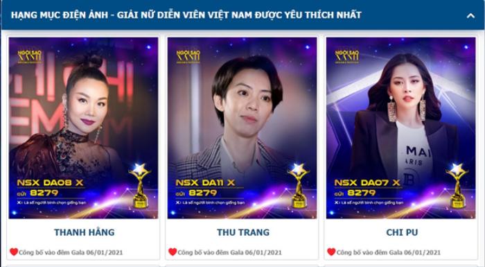 Chốt đơn đề cử hàng đầu 'Ngôi Sao Xanh 2020': Thanh Hằng - Chi Pu hay Ninh Dương Lan Ngọc thắng giải? Ảnh 1