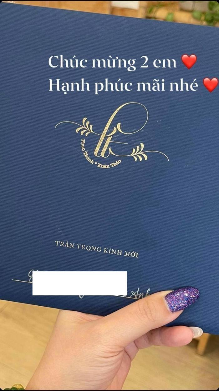 Khách mời hé lộ thiệp cưới của Primmy Trương và Phan Thành, ngày vui đã cận kề mà chính chủ vẫn im lặng Ảnh 4