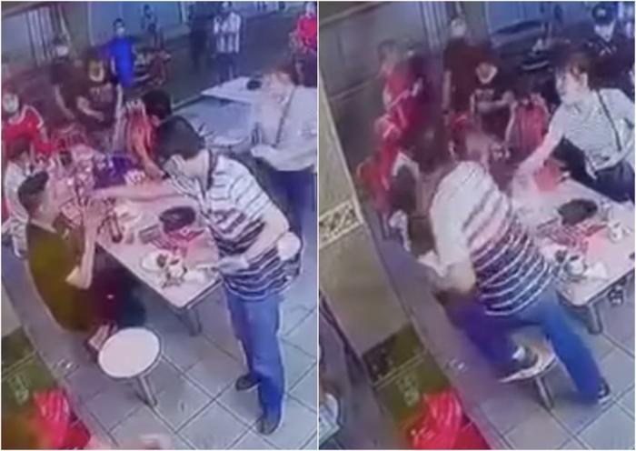 Chủ hàng ăn tung 'liên hoàn cước' vào mặt thực khách vì nghi bị nhìn đểu Ảnh 1