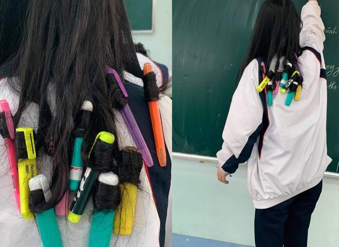 Muốn làm tóc dịp Tết nhưng không có tiền, nữ sinh nảy ra ý tưởng 'bá đạo' khiến dân mạng gật gù ngợi khen Ảnh 1