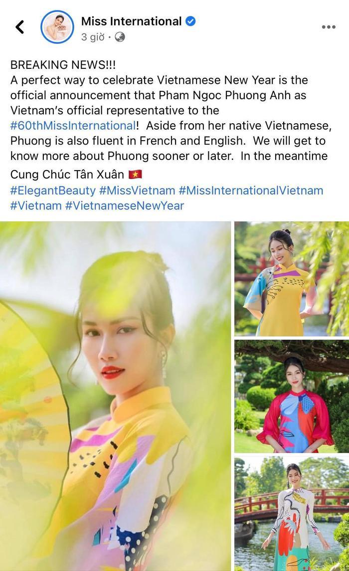 Chính thức: Phương Anh đại diện Việt Nam thi Hoa hậu Quốc tế 2020, fan khen ngợi 'Chuẩn gái Nhật đó' Ảnh 4