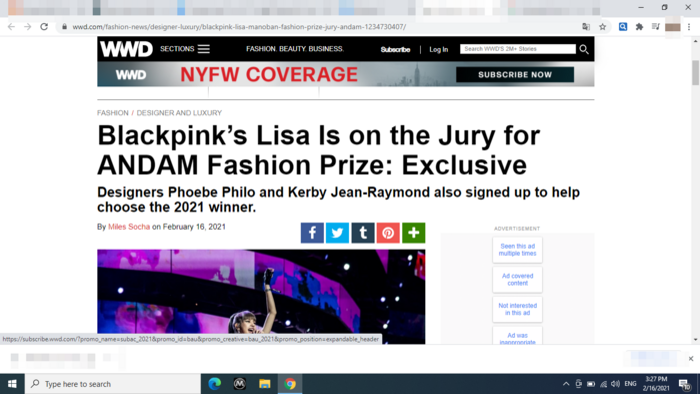 Lisa Black Pink là giám khảo giải thưởng thời trang danh giá của Pháp khiến fans vỡ òa cảm xúc Ảnh 2