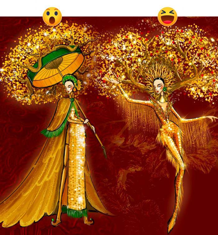 Trang phục dân tộc của Á hậu Ngọc Thảo ở Miss Grand International bị nghi đạo nhái nước ngoài Ảnh 3
