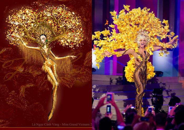Trang phục dân tộc của Á hậu Ngọc Thảo ở Miss Grand International bị nghi đạo nhái nước ngoài Ảnh 8