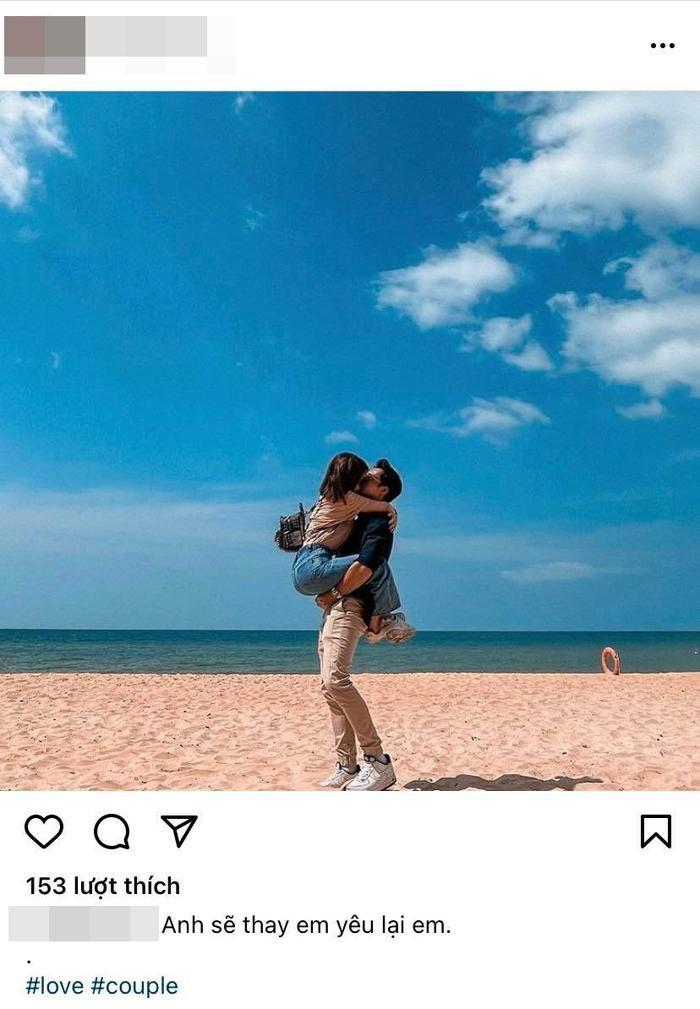 Nghi vấn Thái Trinh hôn đắm đuối bạn trai tin đồn trên bãi biển Ảnh 1
