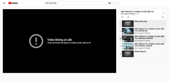 MV 'Chúng ta của hiện tại' bị biến mất khỏi YouTube, Sơn Tùng M-TP vẫn có thể vui khi biết điều này Ảnh 1