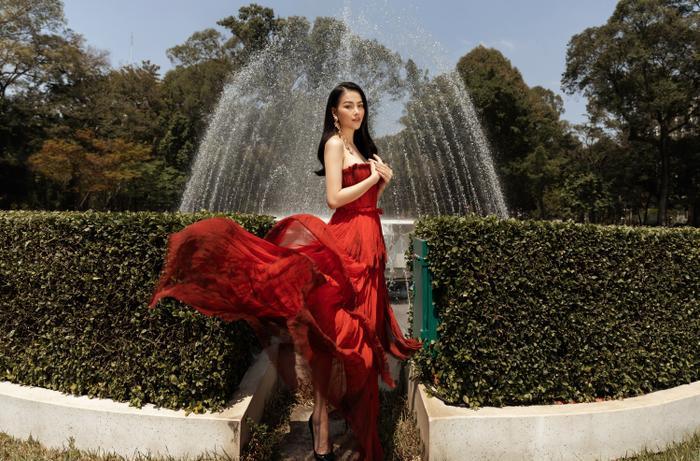 Hoa hậu Phương Khánh tái xuất đẹp mê hồn sau thời gian 'bốc hơi' Vbiz, dính tin đồn có bầu Ảnh 6