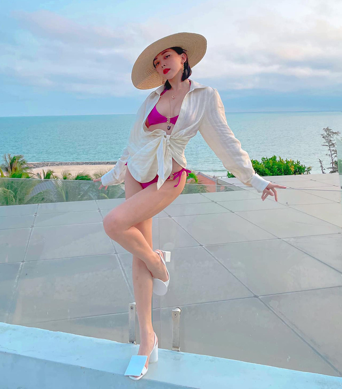 Phí Phương Anh diện bikini khoe nếp gấp đùi, chính thức nhập hội mỹ nhân chưa tới hè đã phô dáng Ảnh 6