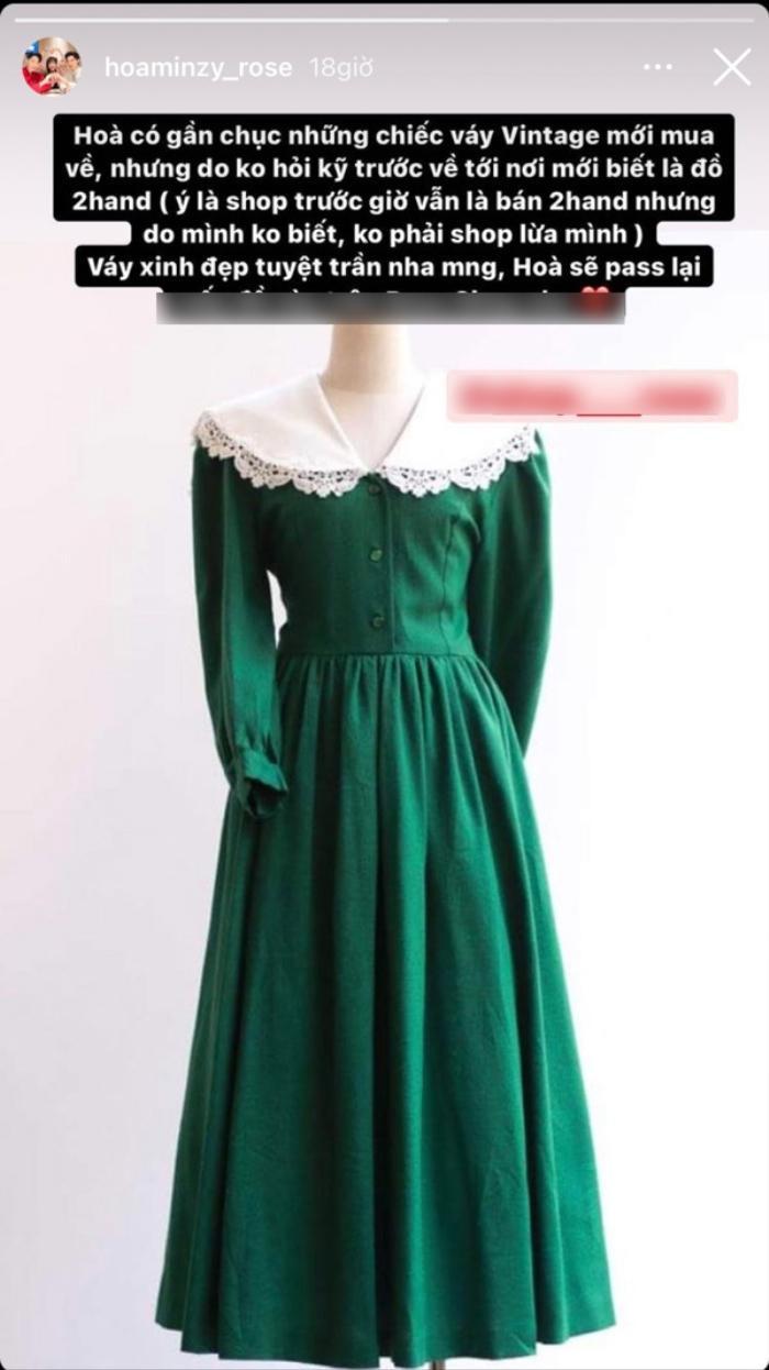 Mua cả lố váy xinh xắn nhưng Hòa Minzy vẫn phải thanh lý giá rẻ vì lỗi ngờ nghệch Ảnh 3