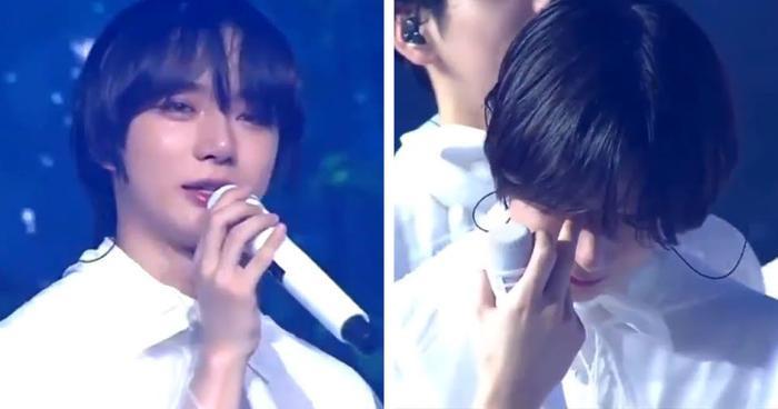 Beomgyu rơi nước mắt không ngừng vì lí do đặc biệt tại fan meeting TXT Ảnh 1