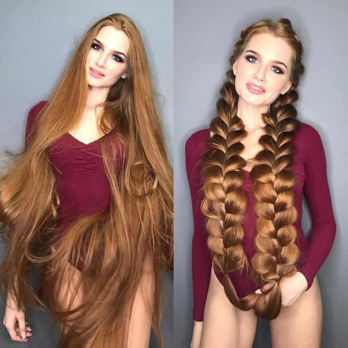 Cô gái từng mắc chứng rụng tóc suýt hói đầu được mệnh danh là 'Rapunzel người Nga' Ảnh 2