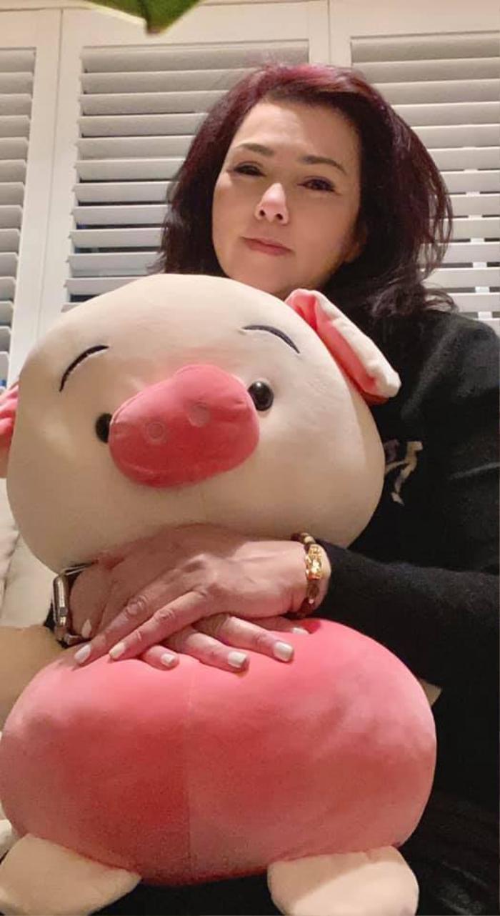 Bà xã cố nghệ sĩ Chí Tài nhận được quà 8/3 muộn nhưng vẫn rất vui: Là chú heo cùng lẵng hoa Ảnh 5