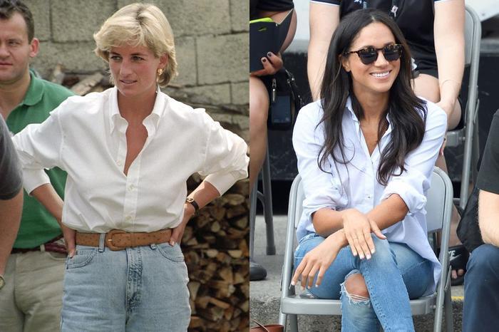 Sợi chỉ đỏ xuyên suốt gu thời trang của Công nương Diana và hai con dâu Kate & Meghan Ảnh 17