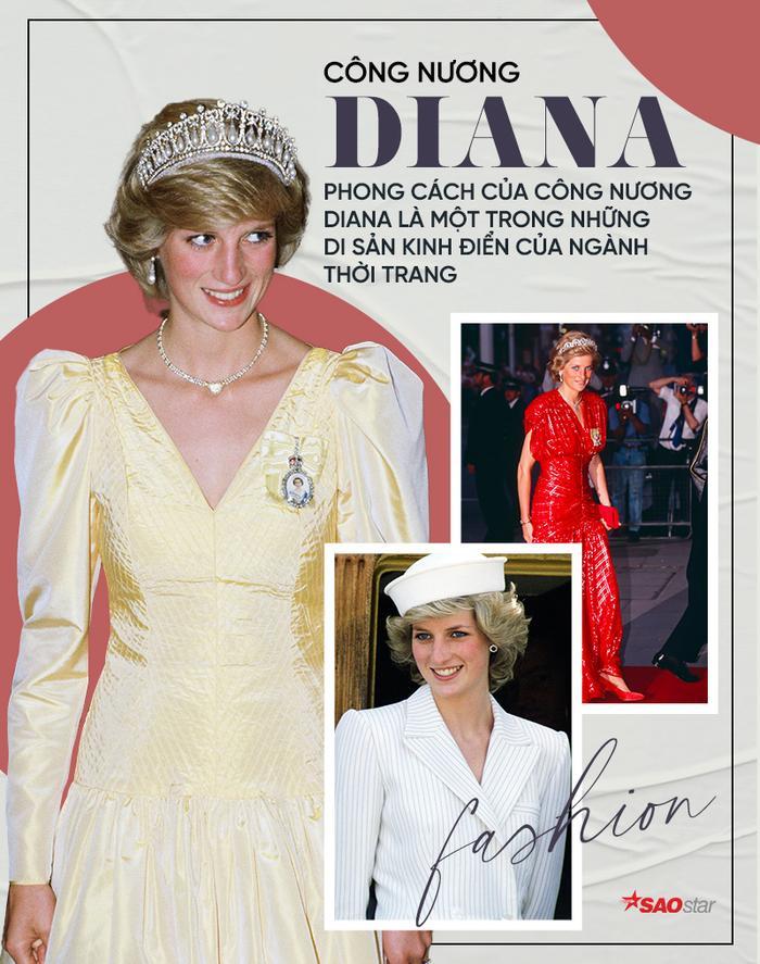 Sợi chỉ đỏ xuyên suốt gu thời trang của Công nương Diana và hai con dâu Kate & Meghan Ảnh 5