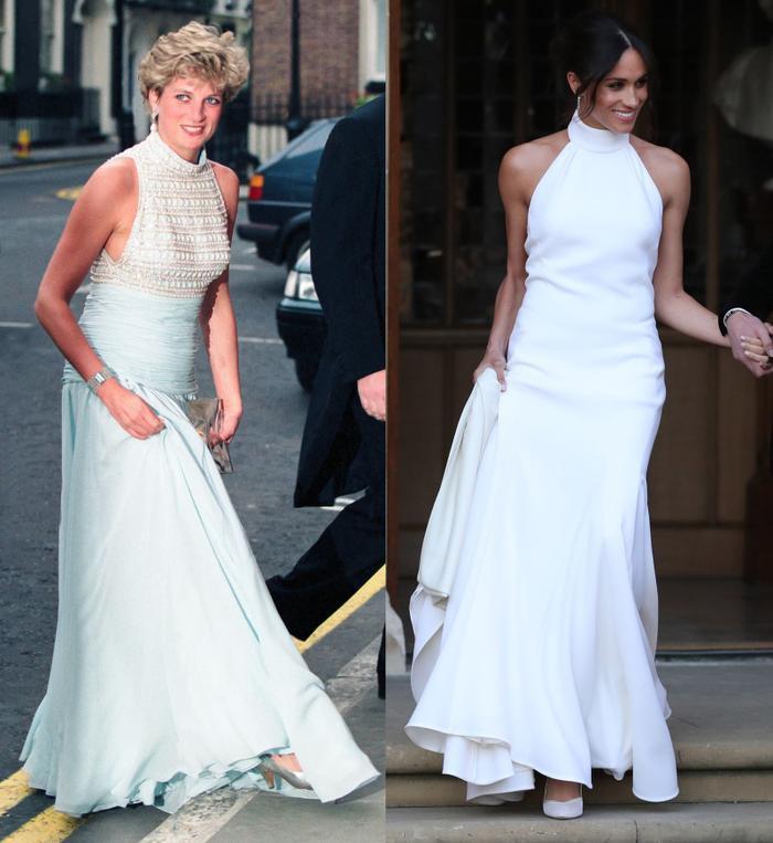 Sợi chỉ đỏ xuyên suốt gu thời trang của Công nương Diana và hai con dâu Kate & Meghan Ảnh 13