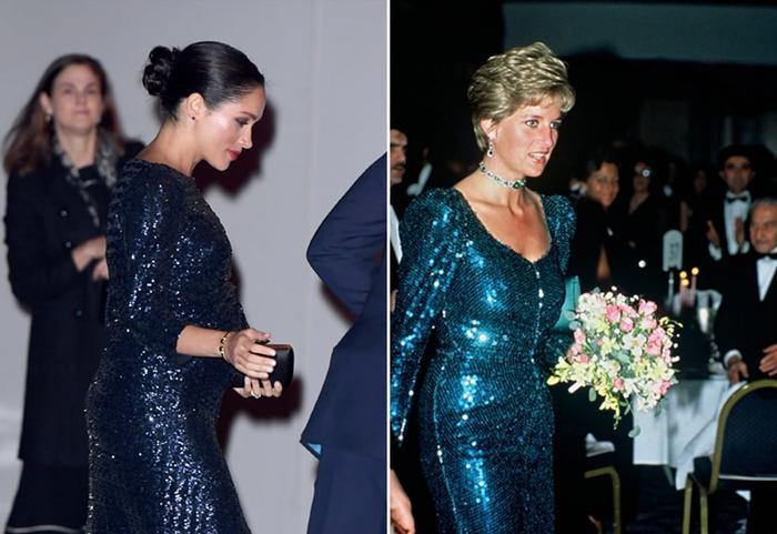 Sợi chỉ đỏ xuyên suốt gu thời trang của Công nương Diana và hai con dâu Kate & Meghan Ảnh 18