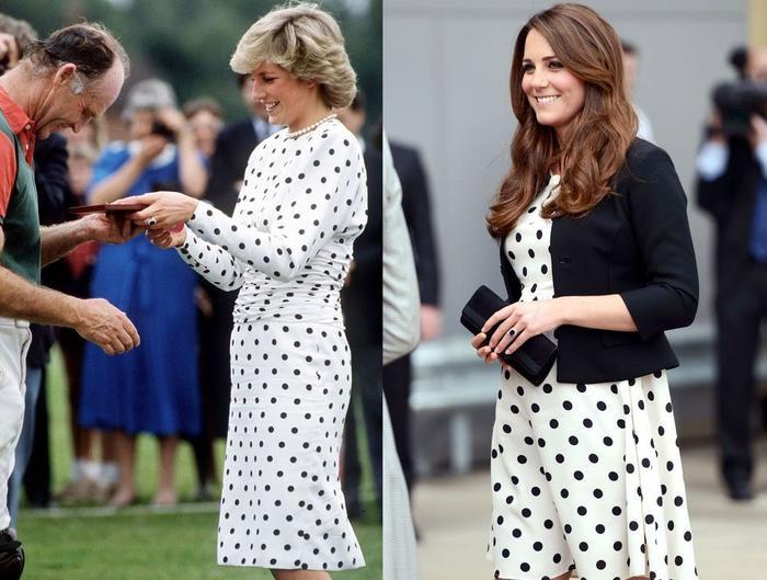 Sợi chỉ đỏ xuyên suốt gu thời trang của Công nương Diana và hai con dâu Kate & Meghan Ảnh 8