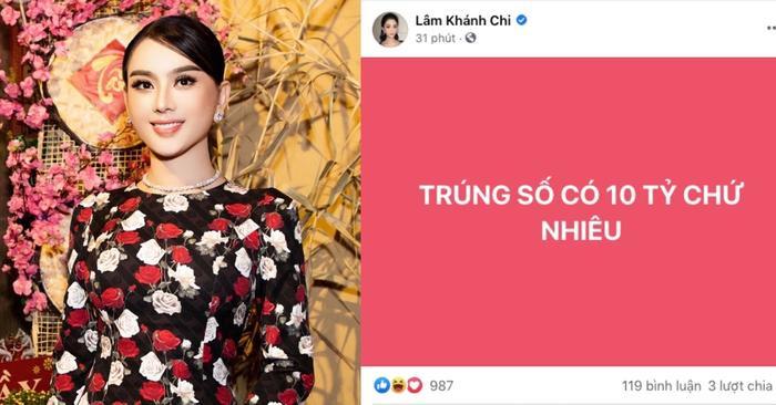Sự thật về thông báo Lâm Khánh Chi tuyên bố trúng xổ số 10 tỷ đồng Ảnh 2