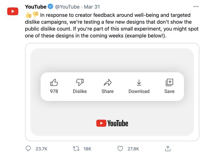 YouTube đang tìm cách giúp các YouTuber, nhóm nhạc nổi tiếng chống lại 'bão Dislike'? Ảnh 2