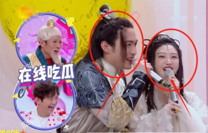 Cảnh Điềm chủ động khóa môi 'bạn trai' Dương Mịch ngay trên sóng truyền hình Ảnh 3