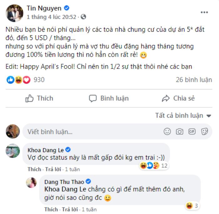 Mỗi lần đăng ảnh vợ con, chồng Đặng Thu Thảo đều khiến dân tình phì cười Ảnh 6