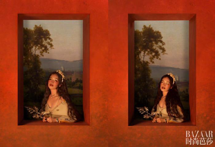 'Quả bom gợi cảm' Thư Kỳ đẹp như công chúa trong cổ tích trên bìa Harper's Bazaar Ảnh 6